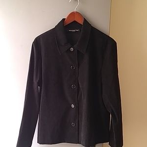 Briggs New York womens black button up